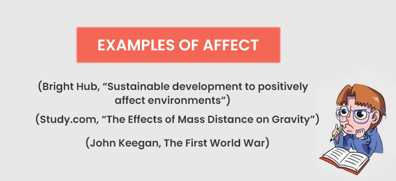 Examples of affect
